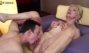 Horny granny fucking with juvenile lad