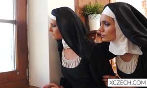 Weird avid porn with cathlic nuns and monster