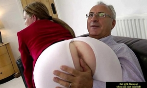 Teen non-professional glamour bonks old dude after engulfing