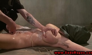 Bdsm filled and tormented by objects from her desirous corporalist